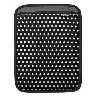 Black and White Polka Dot Pattern. Spotty. iPad Sleeve