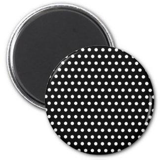 Black and White Polka Dot Pattern Spotty Refrigerator Magnets