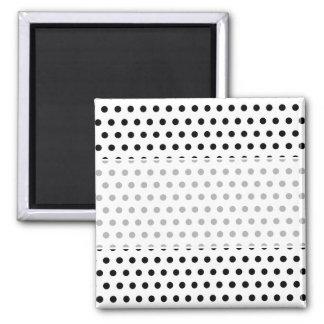 Black and White Polka Dot Pattern. Spotty. Fridge Magnet
