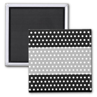 Black and White Polka Dot Pattern Spotty Refrigerator Magnet