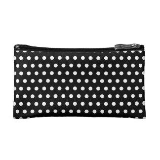 Black and White Polka Dot Pattern. Spotty. Makeup Bags