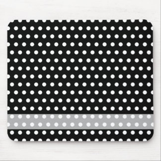 Black and White Polka Dot Pattern. Spotty. Mouse Mat