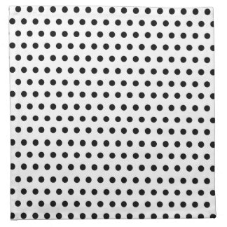 Black and White Polka Dot Pattern. Spotty. Napkin