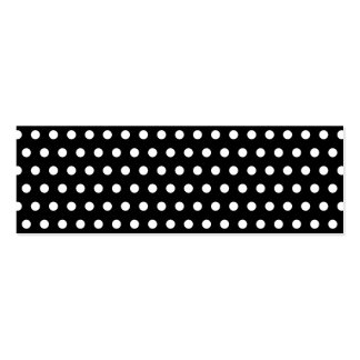 Black and White Polka Dot Pattern. Spotty. Pack Of Skinny Business Cards
