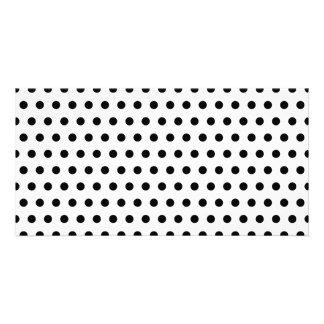 Black and White Polka Dot Pattern. Spotty. Photo Greeting Card