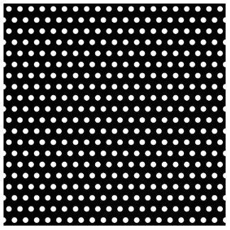 Black and White Polka Dot Pattern Spotty Photo Cut Outs