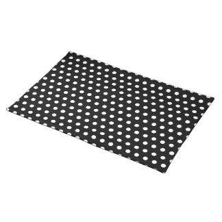 Black and White Polka Dot Pattern. Spotty. Place Mats