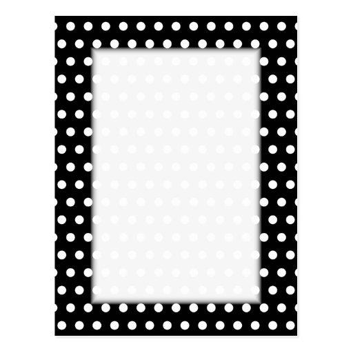 Black and White Polka Dot Pattern. Spotty. Post Cards