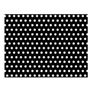 Black and White Polka Dot Pattern Spotty Postcards