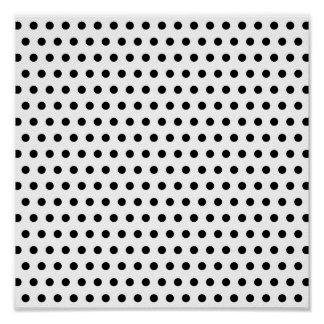 Black and White Polka Dot Pattern. Spotty. Posters