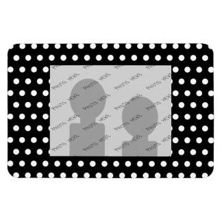 Black and White Polka Dot Pattern. Spotty. Vinyl Magnets