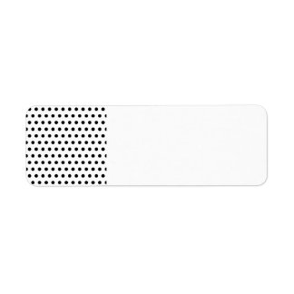 Black and White Polka Dot Pattern. Spotty. Return Address Label