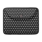 Black and White Polka Dot Pattern. Spotty. Sleeve For MacBook Pro