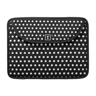 Black and White Polka Dot Pattern. Spotty. Sleeve For MacBooks