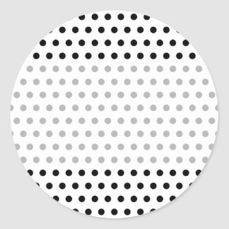 Black and White Polka Dot Pattern Spotty Round Stickers