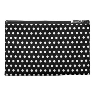 Black and White Polka Dot Pattern. Spotty. Travel Accessories Bags