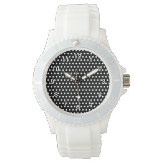 Black and White Polka Dot Pattern. Spotty. Watches