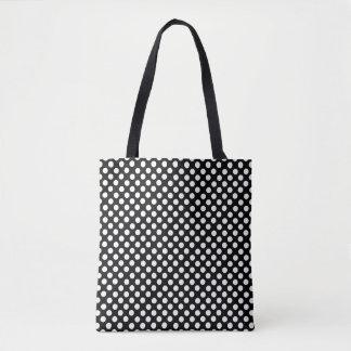 Black and White Polka Dot Pattern Tote Bag