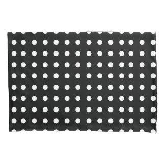 Black and White Polka Dot Pillowcase