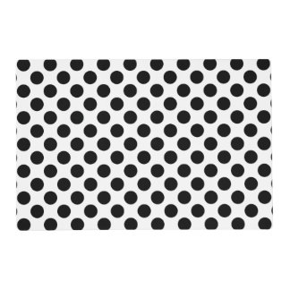 Black and White Polka Dot Placemat