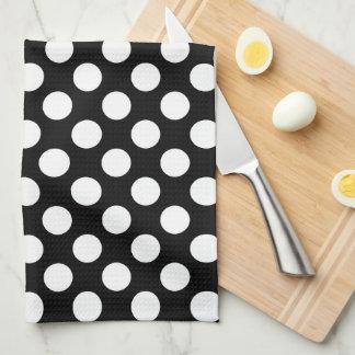 Black and White Polka Dot Tea Towel