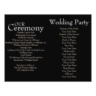 Black and White Polka Dot Wedding Ceremony Program Custom Flyer