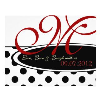 Black and White Polka Dot Wedding Ceremony Program Personalized Flyer