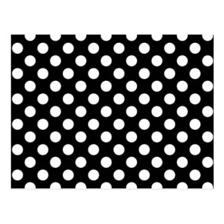 Black and White Polka Dot Wedding RSVP Postcard