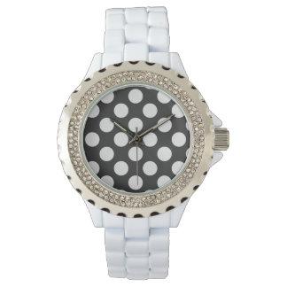Black and White Polka Dot Wristwatch