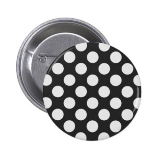 Black and White Polka Dots 6 Cm Round Badge