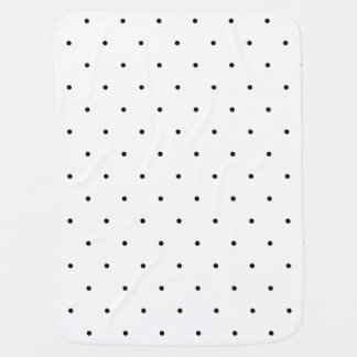 Black And White Polka Dots Stroller Blanket
