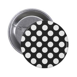 Black and White Polka Dots 6 Cm Round Badge