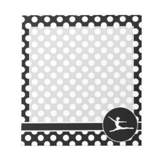 Black and White Polka Dots; Ballet Notepad