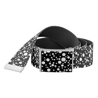 black and white polka dots belt