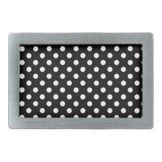Black and White Polka Dots Belt Buckles