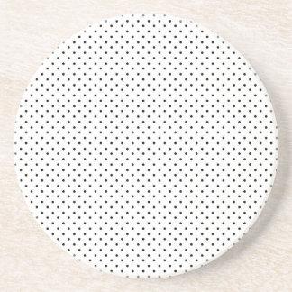 Black and White Polka Dots Beverage Coasters