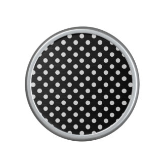 Black and White Polka Dots Bluetooth Speaker