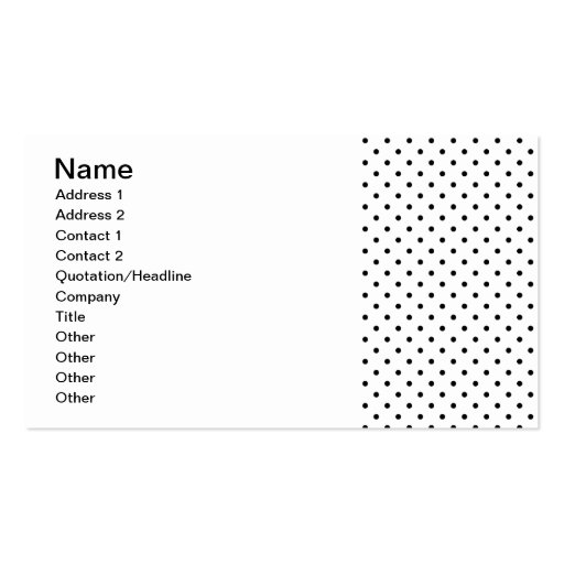 40c94cc461f2 Collections of Black And White Polka Dot Business Cards