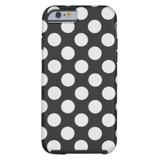 Black and White Polka Dots Tough iPhone 6 Case