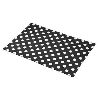 Black and White Polka Dots Place Mats
