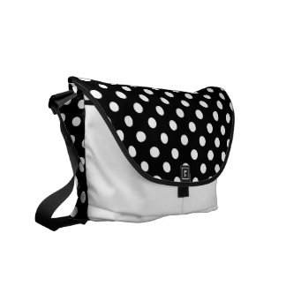 Black and White Polka Dots Commuter Bag