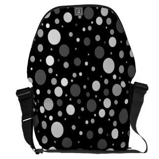Black And White Polka Dots Commuter Bag
