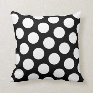 Black and White Polka Dots Cushion