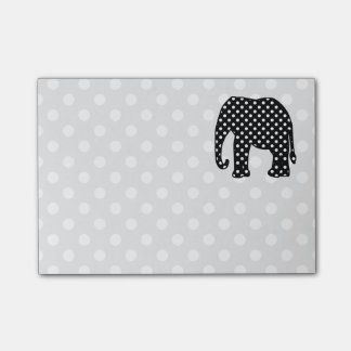 Black and White Polka Dots Elephant Post-it® Notes