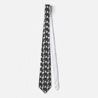 Black and White Polka Dots Elephant Tie