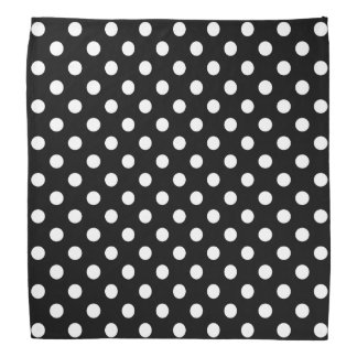 Black and White Polka Dots Head Kerchiefs