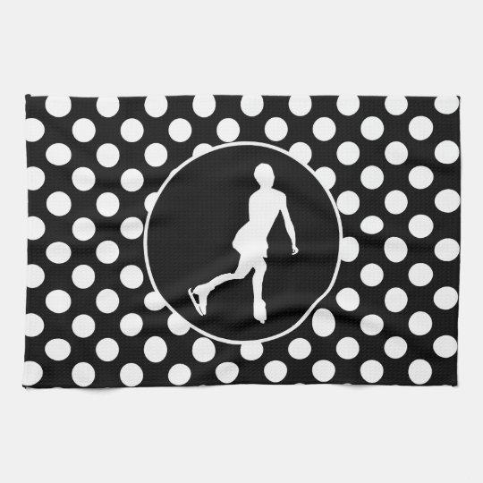 Black and White Polka Dots; Ice Figure Skating