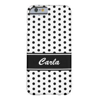 Black and white polka dots iPhone 6 case Barely There iPhone 6 Case