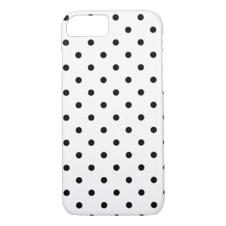 Black and White Polka Dots iPhone 8/7 Case
