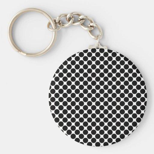 Black and White Polka Dots Key Chains